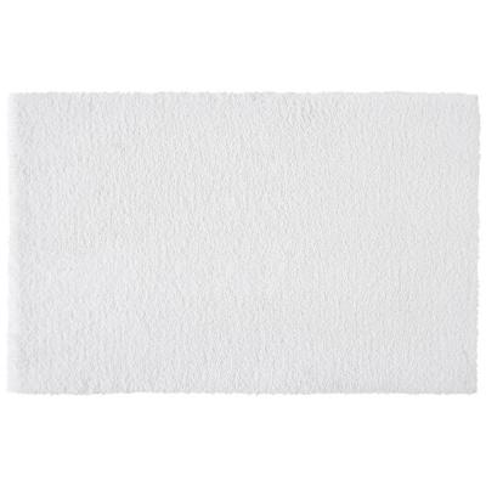White 19 in. x 34 in. Non-Skid Cotton Bath Rug
