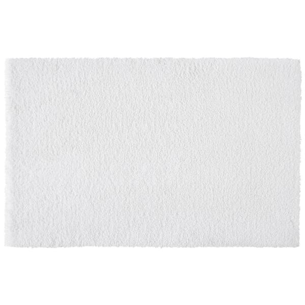 White 19 in. x 34 in. Non-Skid Cotton Bath Rug