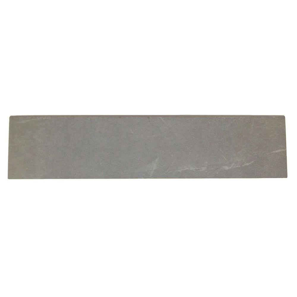 Daltile Concrete Connection Steel Structure 3 in. x 13 in. Porcelain Bullnose Floor and Wall Tile