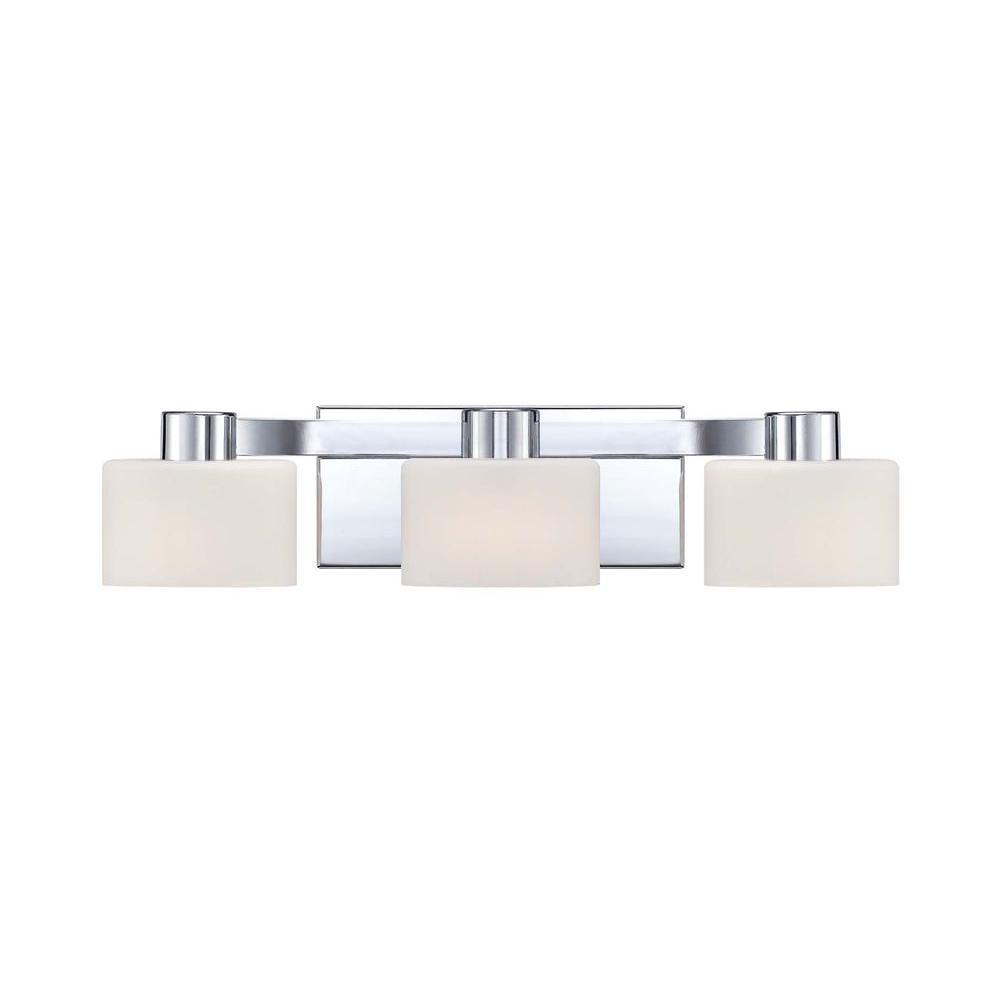 Illumina Direct Livnea 3-Light Polished Chrome Bath Vanity Light