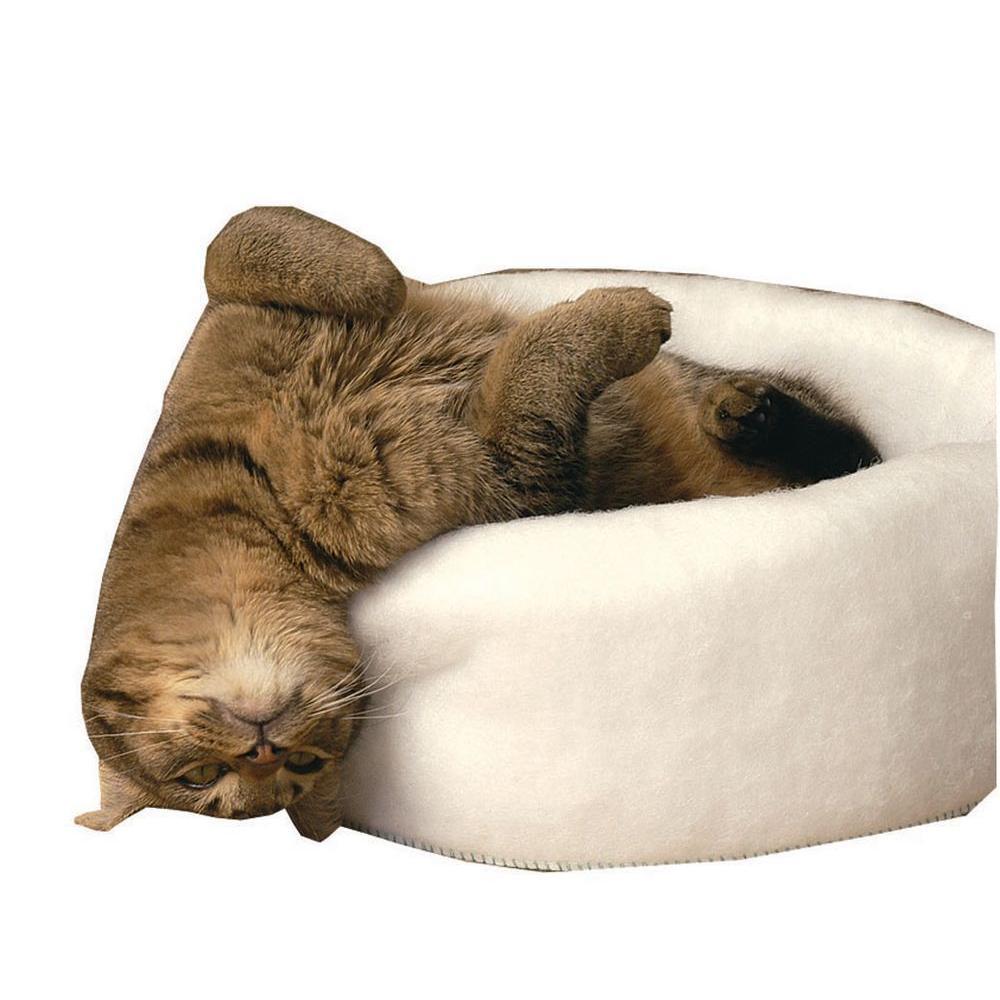 Carolina Pet Company Mysterious Kitty Kup Medium White Bed