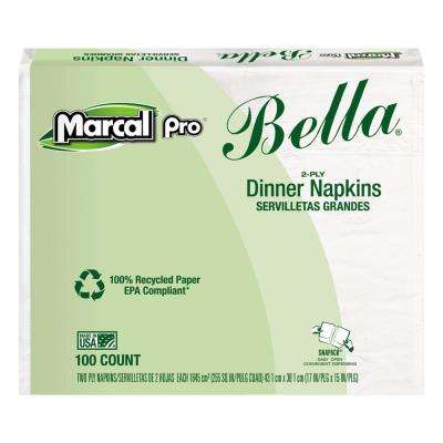Recycled Bella SnapPac Dinner Napkins (100-Pack)