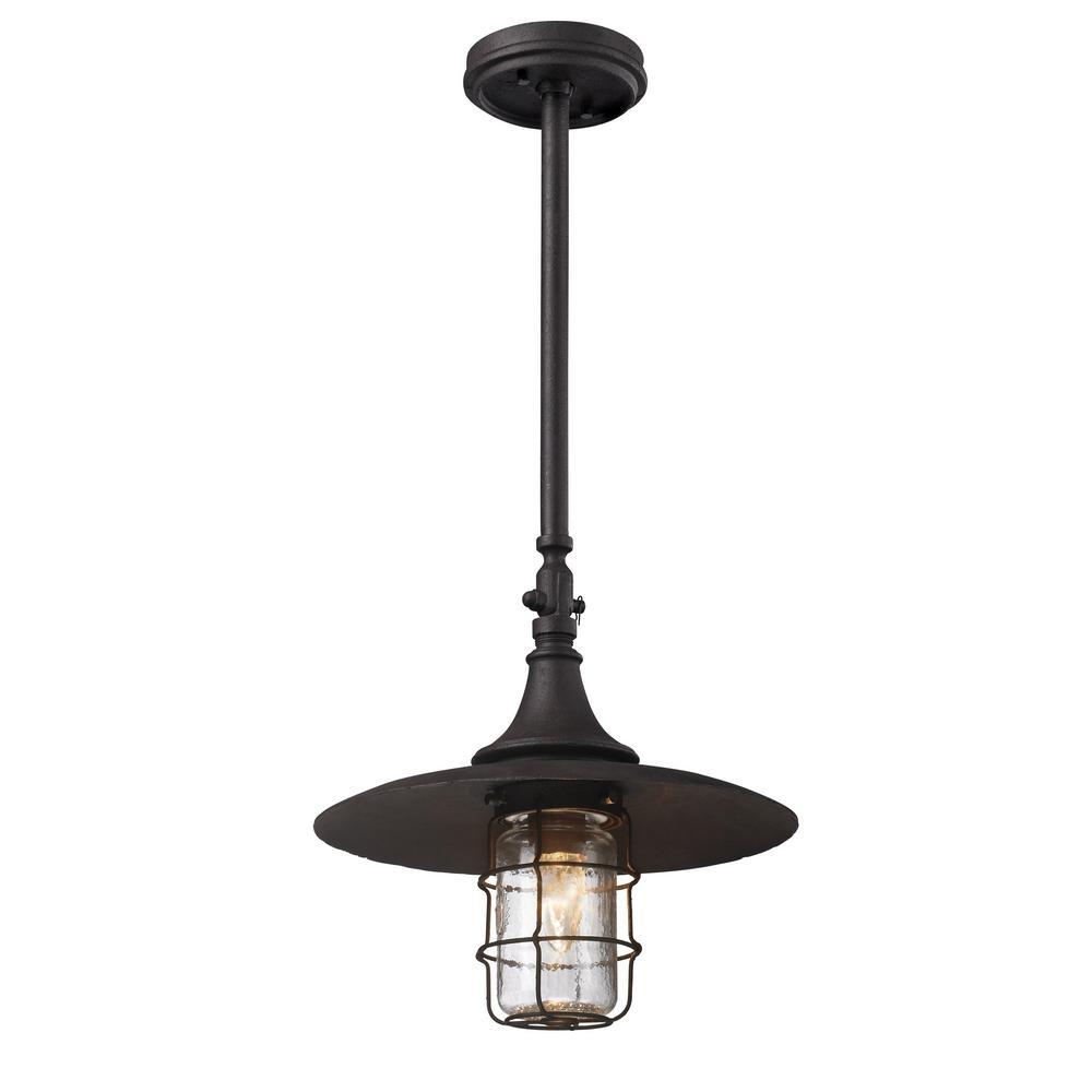 Troy Lighting Allegany 1-Light Centennial Rust Outdoor Pendant