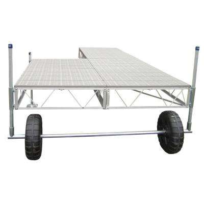 16 ft. Patio Roll-in Dock with Poly Decking