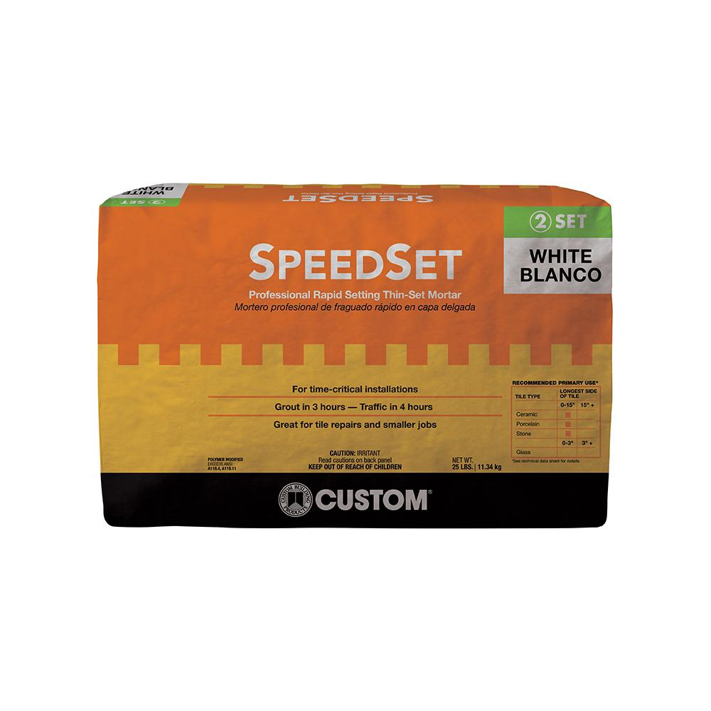 Custom Building Products SpeedSet White 25 lb. Fortified ...