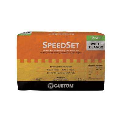 SpeedSet White 25 lb. Fortified Thin-Set Mortar