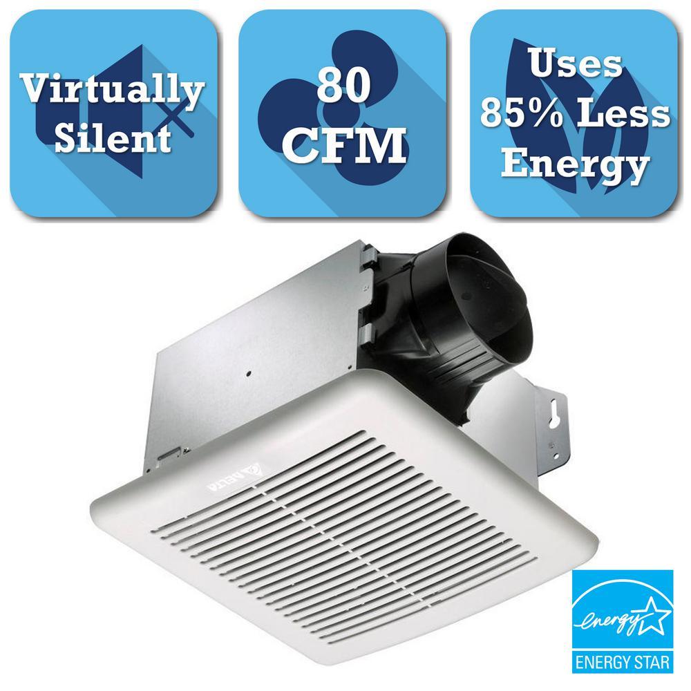 Superb GreenBuilder Series 80 CFM Ceiling Bathroom Exhaust Fan