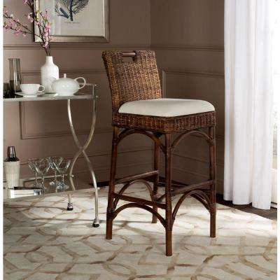 Fremont 29.92 in. Brown Cushioned Bar Stool