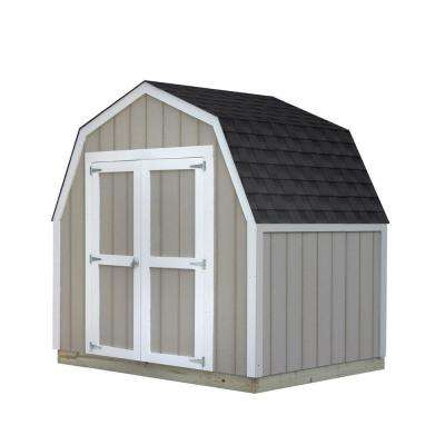 8 ft. x 6 ft. Installed Smart Siding Val-U Shed