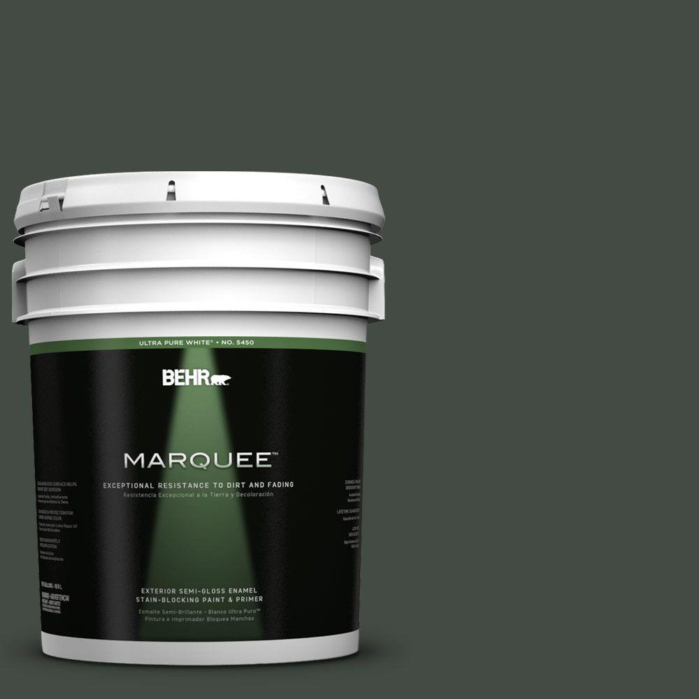 BEHR MARQUEE 5-gal. #PPF-55 Forest Floor Semi-Gloss Enamel Exterior Paint