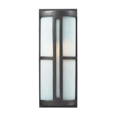 Trevot 1-Light Black Outdoor Sconce
