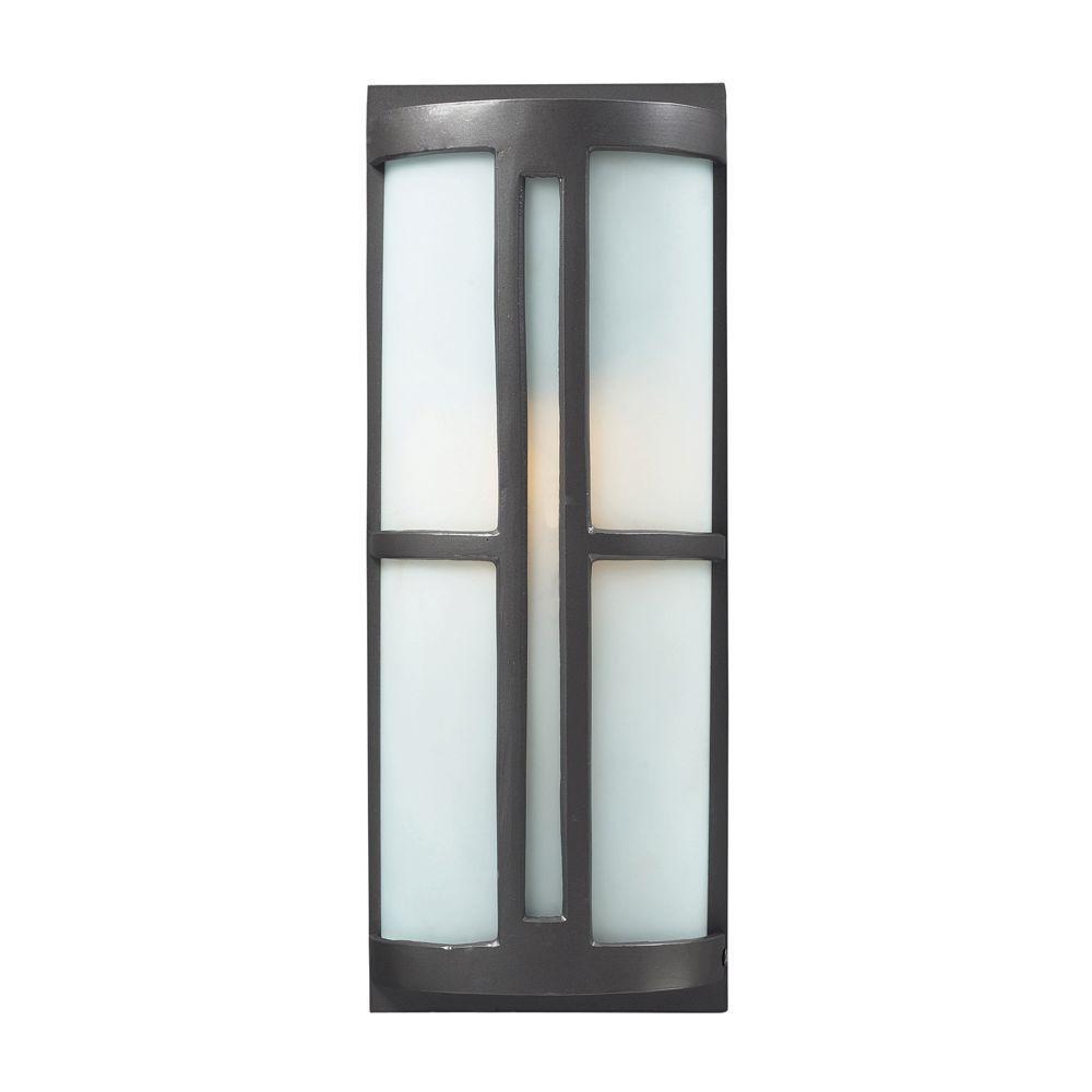 Trevot 1-Light Black Outdoor Sconce