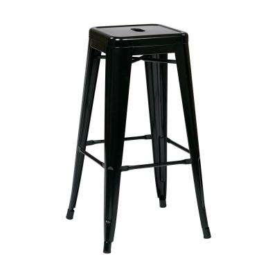 Patterson 30 in. Black Bar Stool (Set of 2)
