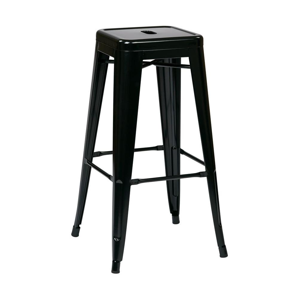 Miraculous Patterson 30 In Black Bar Stool Set Of 2 Squirreltailoven Fun Painted Chair Ideas Images Squirreltailovenorg
