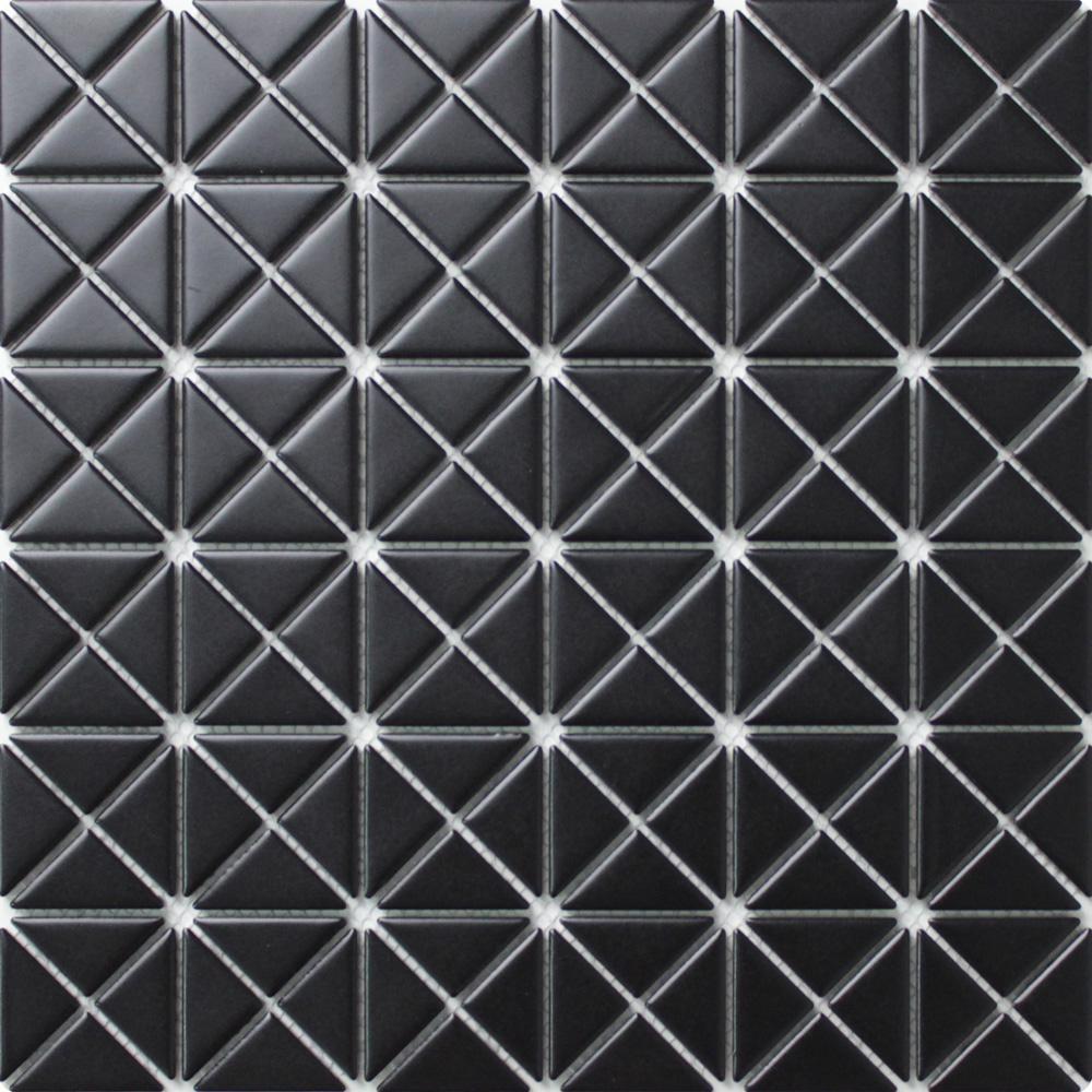 Tre Mini Crossover Matte Black 10-3/4 in. x 10-3/4 in. x