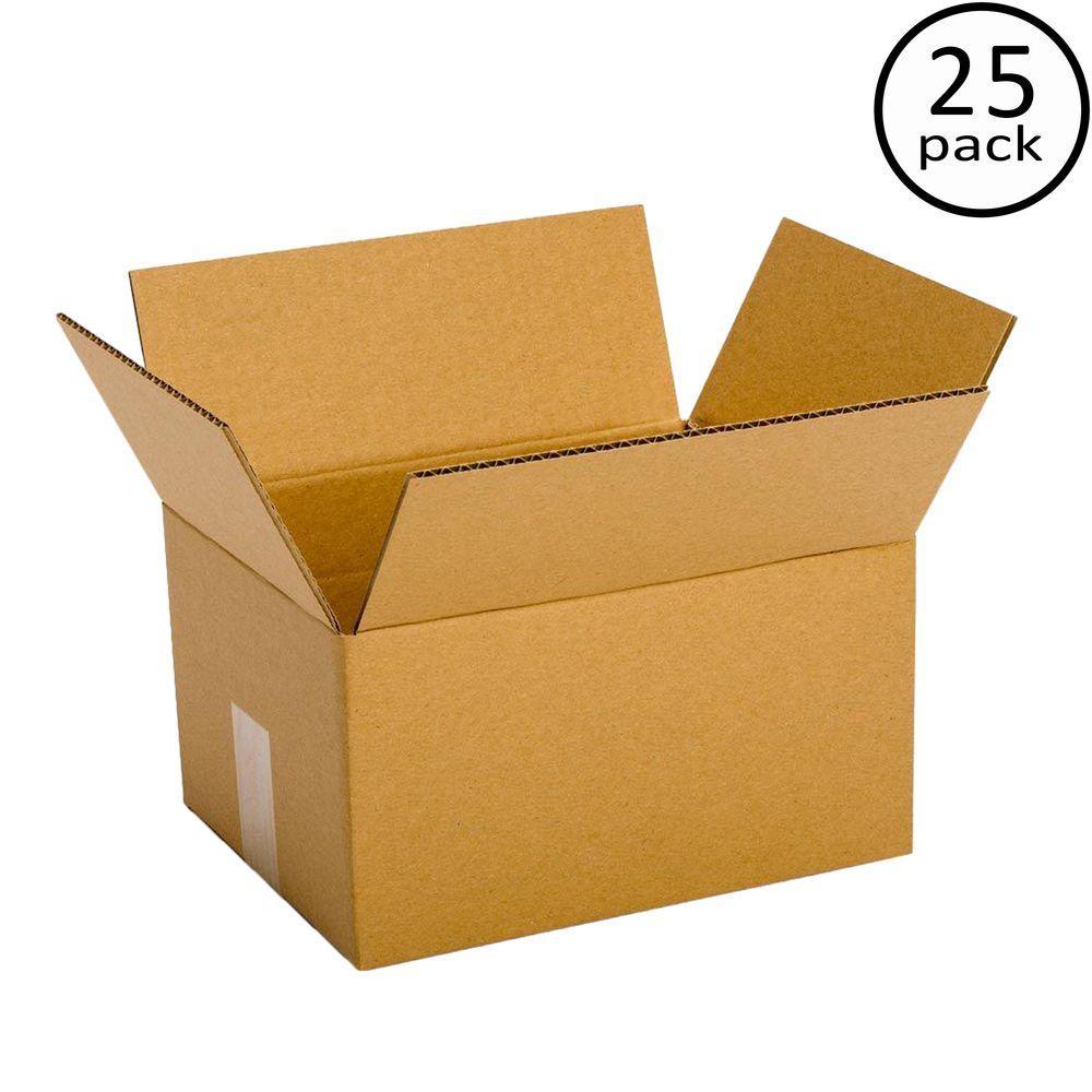 11-1/4 in. L x 8-3/4 in. W x 6 in. D Multi-depth Box (25-Pack)