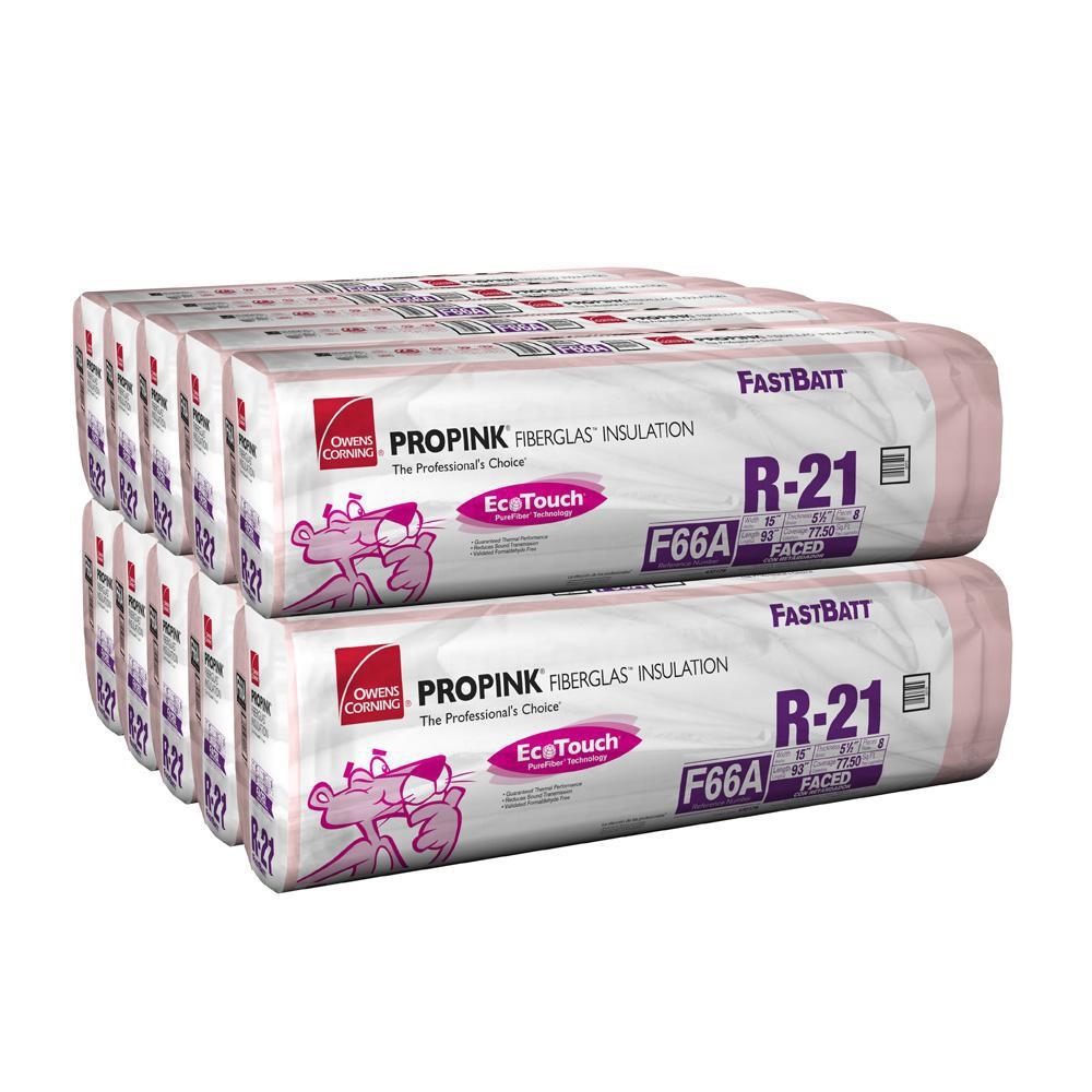 Owens corning r 21 kraft faced fiberglass insulation batts for High density fiberglass batt insulation