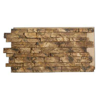 Snodonia Faux Stone Panel 1-1/4 in. x 48 in. x 24 in. Adobe Brown Polyurethane Interlocking Panel