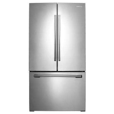 25.5 cu. ft. French Door Refrigerator with Internal Water Dispenser in Stainless Steel