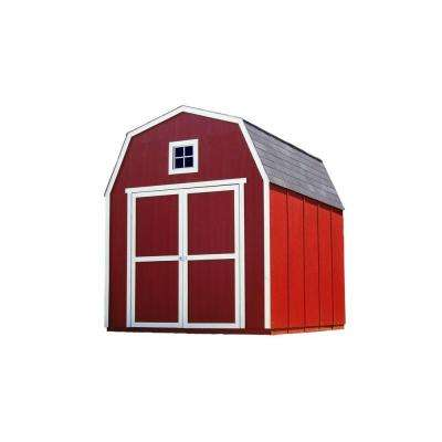 Montana 8 ft. x 10 ft. Wood Shed Kit with Floor Frame