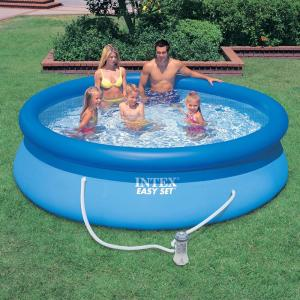 Intex 10ft x 30in Easy Set Above Ground Inflatable Family Swimming Pool /& Pump