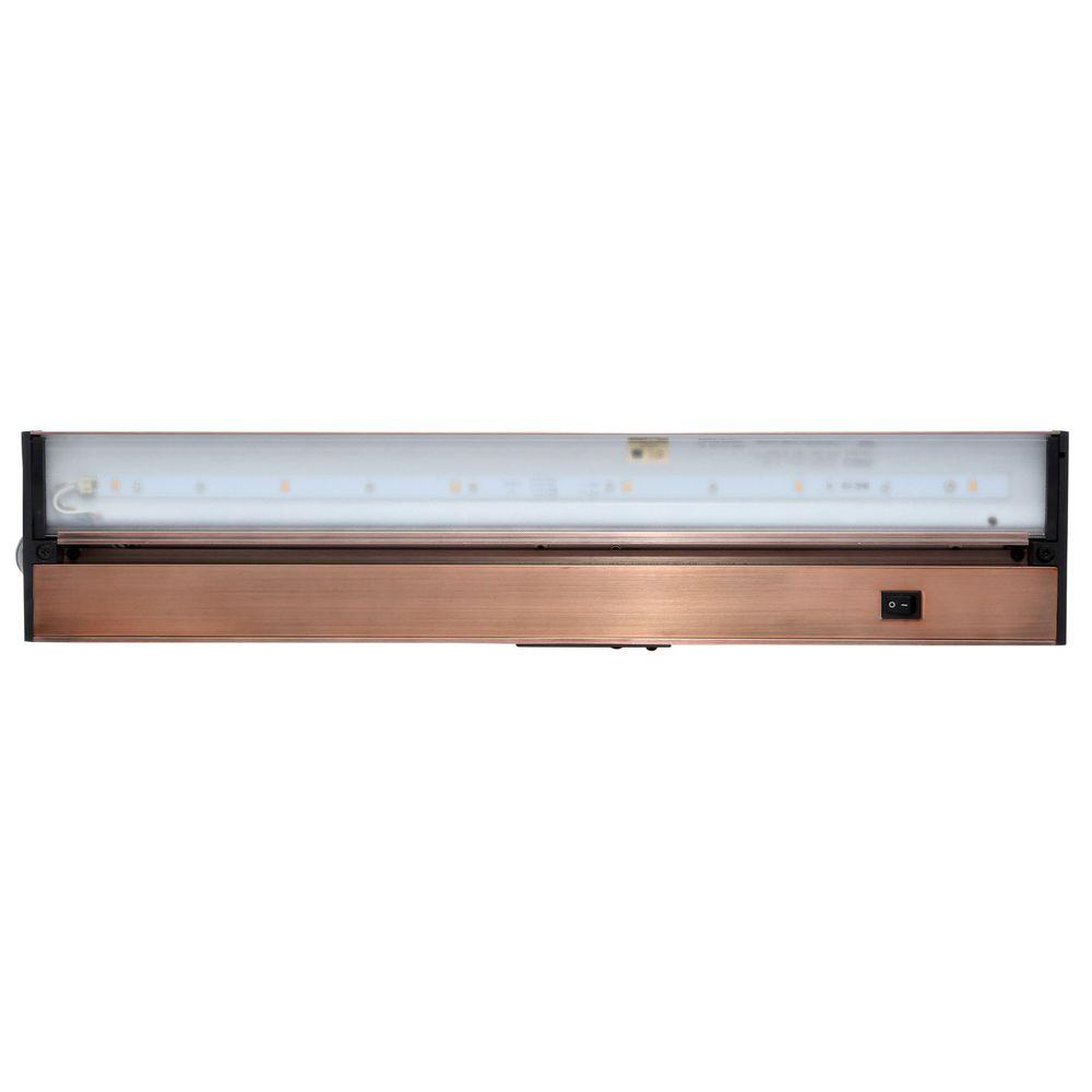 Juno Pro-Series 22 in. Brushed Bronze LED Under Cabinet Light with ...
