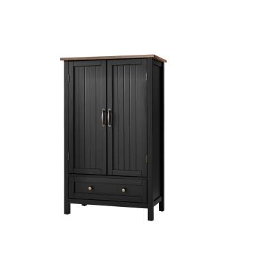 Bainport Black with Haze Top Wood Kitchen Pantry with Haze Top (28 in. W x 45 in. H)