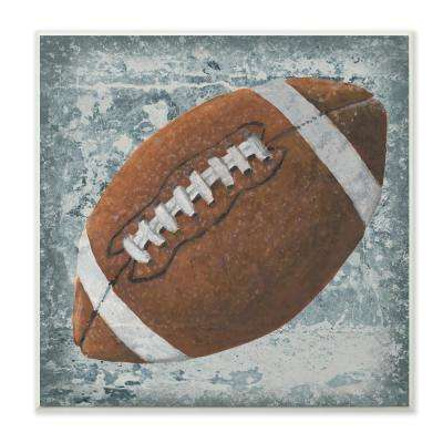 "12 in. x 12 in."" Grunge Sports Equipment Football"" by Studio W Printed Wood Wall Art"