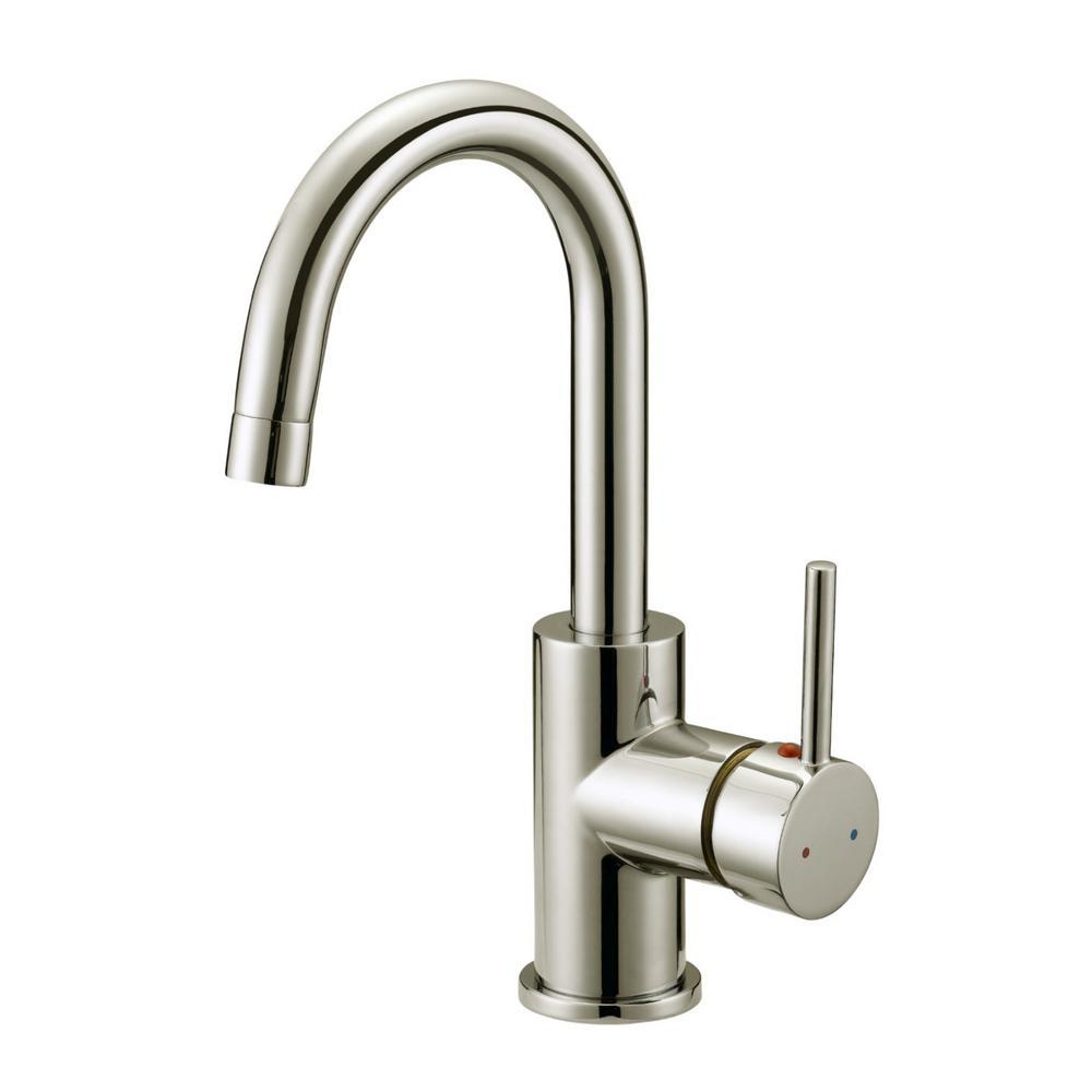 Delightful Eastport Single Handle Bar Faucet In Satin Nickel