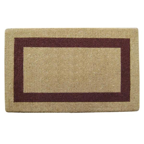 Single Picture Frame Brown 22 in. x 36 in. HeavyDuty Coir Door Mat