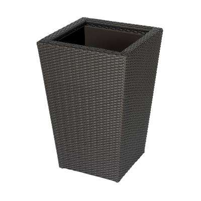 Vista 24 in. Square Resin Wicker Planter
