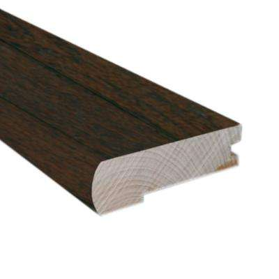Hickory Chestnut 0.81 in. Thick x 2.37 in. Wide x 78 in. Length Hardwood Flush-Mount Stair Nose Molding