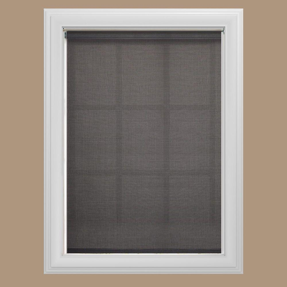 Bali Cut-to-Size Graphite Cordless Vinyl 85% UV Blocking Solar Roller Shade - 23 in. W x 72 in. L