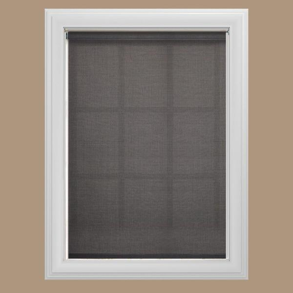 Cut-to-Size Graphite Cordless UV Blocking Fade resistant Roller Shades 24.5 in. W x 72 in. L