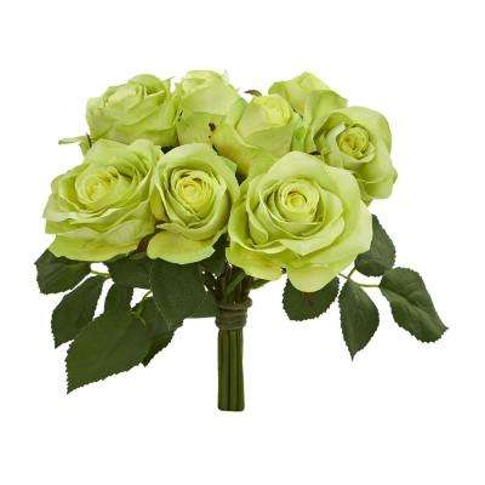 Rose Bush Artificial Flower Stem Bunch (Set of 2)