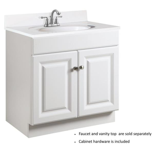 Solid White Design House 552018 Cultured Marble Vanity Top 31