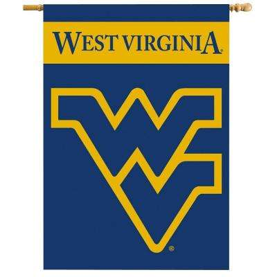 NCAA 28 in. x 40 in. West Virginia 2-Sided Banner with Pole Sleeve