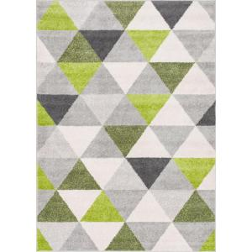 Well woven mystic alvin modern geometric green 5 ft 3 in - Mid century modern rug ideas ...