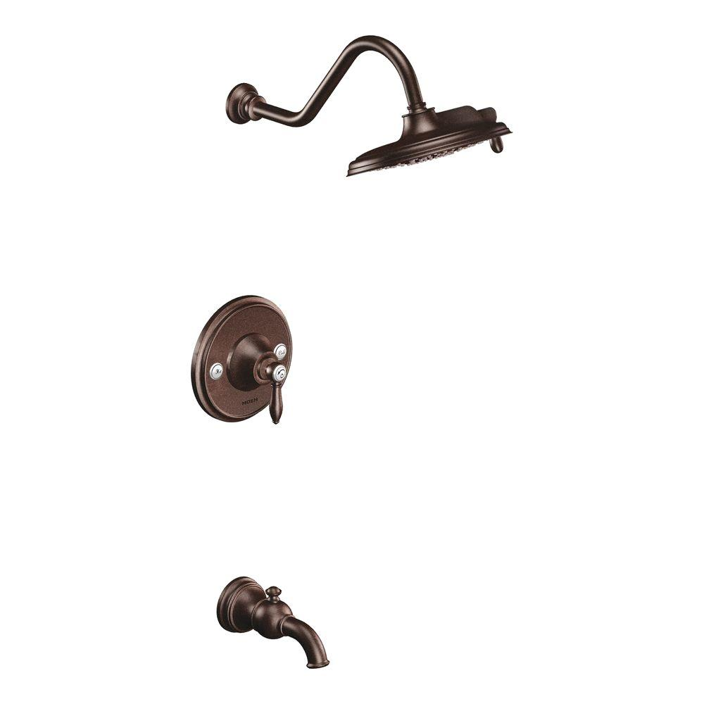 MOEN Weymouth Posi-Temp Tub & Shower Trim Kit in Oil Rubbed Bronze without Showerhead (Valve not included)-DISCONTINUED