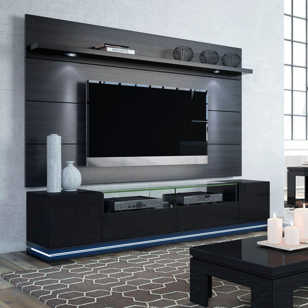 Superieur Manhattan Comfort Vanderbilt Black Entertainment Center