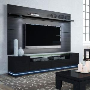 Manhattan Comfort Vanderbilt Black Entertainment Center