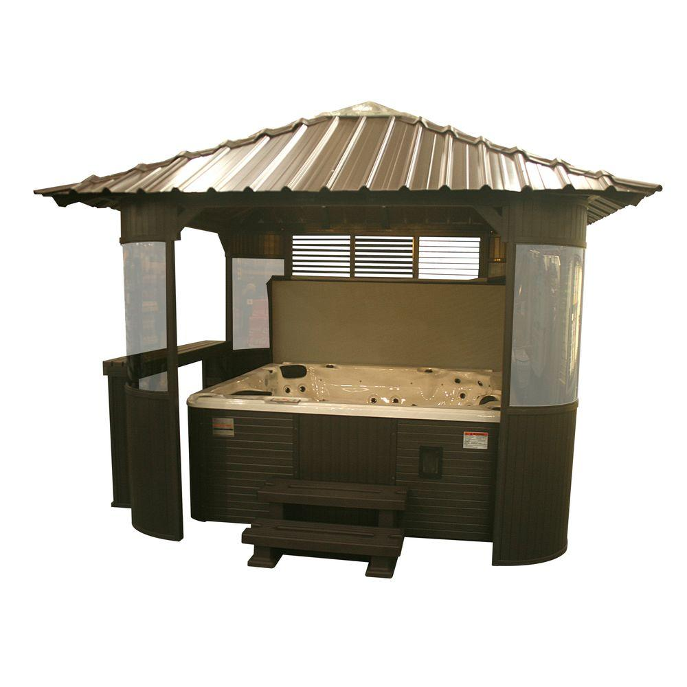 Canadian Spa Company Fraser 10 ft. Synthetic Coffee Gazebo