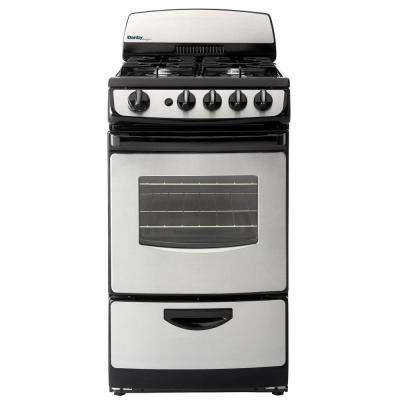 20 in. 2.4 cu. ft. Gas Range with Manual Clean Oven in Stainless Steel and Black
