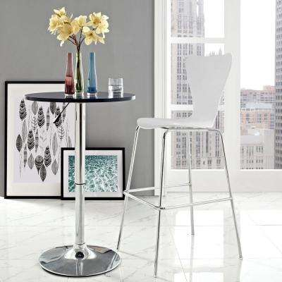Ernie 31 in. White Wood Bar Stool