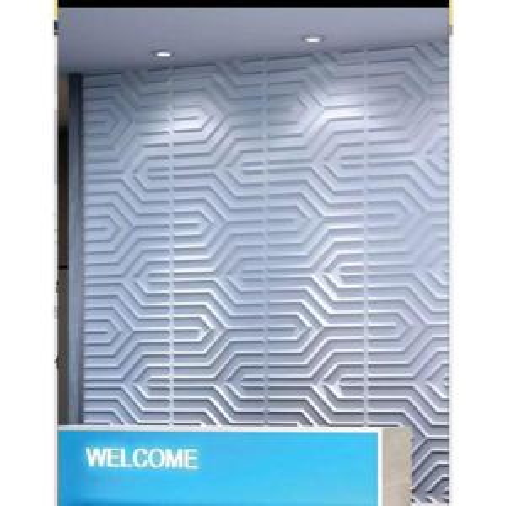 19.7 in. x 19.7 in. x 1 in. 3D PVC Decorative Wall Panel Matt White (12-Pack)