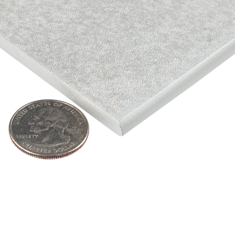 Twenties Grey 3-1/2 in. x 7-3/4 in. Ceramic Bullnose Floor and Wall Trim Tile