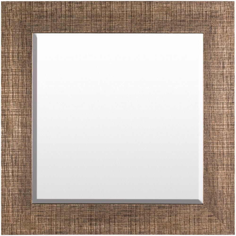 Minja 28 in. x 28 in. Polystyrene Framed Mirror