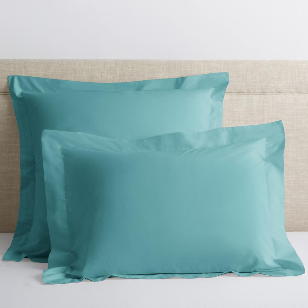 Company Cotton Seaside Solid 300-Thread Count Percale Euro Sham