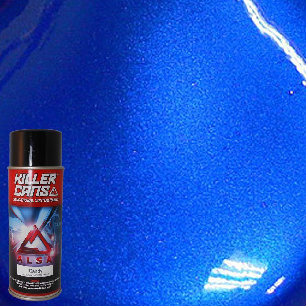 Alsa Refinish 12 Oz Candy Cobalt Blue Killer Cans Spray