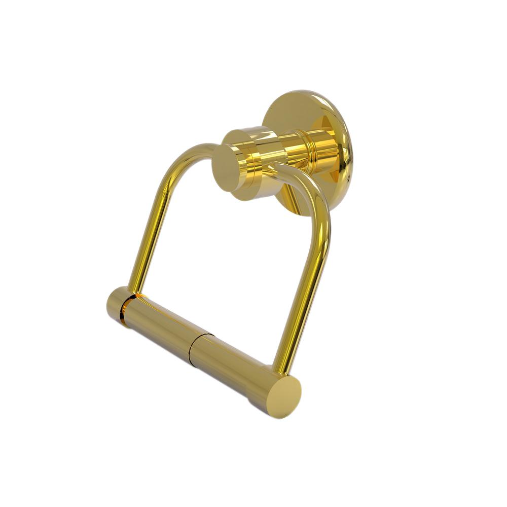 Mercury Collection Single Post Toilet Paper Holder in Polished Brass